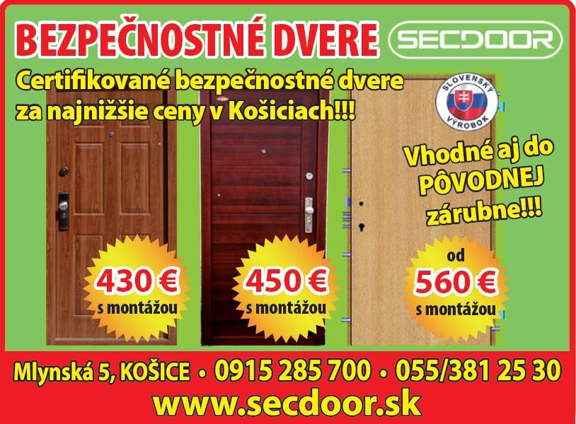 9f678cc3e6 Bezpečnostné dvere Košice - akcia